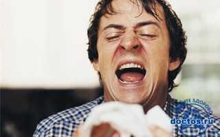 Насморк и чихание без температуры при простуде