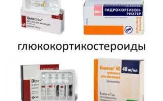 Стероидные противовоспалительные средства классификация