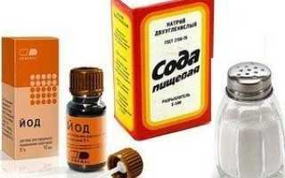 Полоскания горла содой
