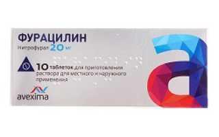 Фурацилин таблетки инструкция по применению как разводить