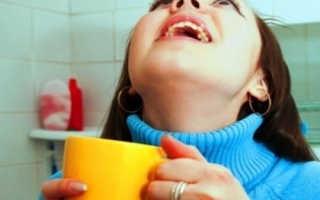 Как прополоскать горло перекисью водорода