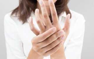 Онемение пальцев правой руки большого и указательного
