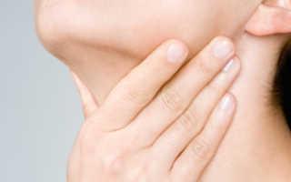 Болит при надавливании под челюстью