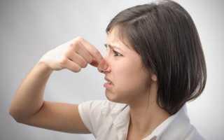 Когда чихаю неприятный запах