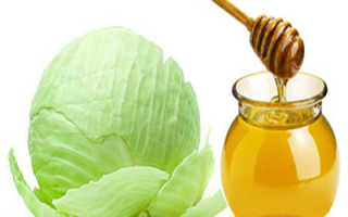 Компресс из меда и капустного листа