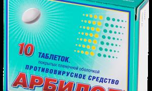 Противовирусные таблетки список