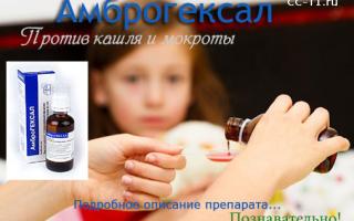Амброгексал для какого кашля